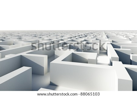 Abstract infinity puzzle maze. - stock photo