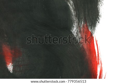 Abstract ink background. Marble style. Black and white paint stroke texture. Wallpaper for web and game design. Grunge drywall mud art. Macro image of spackling paste. Dark Smear of painterly plaster.