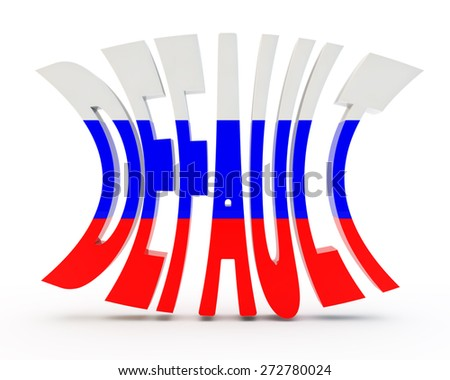 """abstract inscription """"default"""" with a flag of Russia - stock photo"""