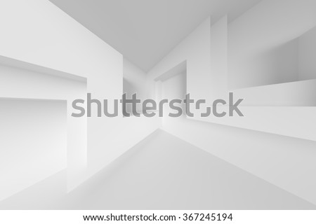 Abstract Interior Background. White Empty Room - stock photo