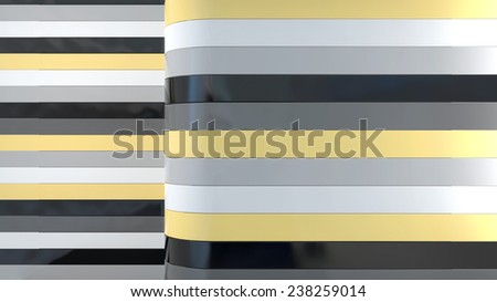 abstract interior background with colorful plastic panels - stock photo