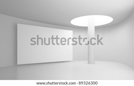 Abstract interior. Gallery. 3d illustration - stock photo