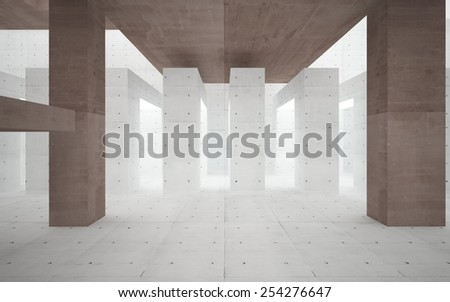 Abstract interior of a brutal concrete