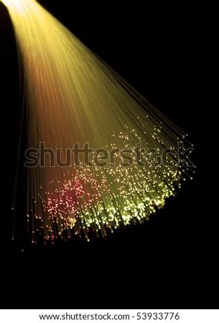 Abstract Internet technology fiber optic background - stock photo