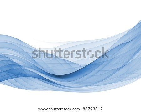 Abstract interplay of curves, colors and lights to convey sense of elegant motion, graceful dynamism, design and style. - stock photo