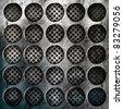 Abstract iron surface - stock photo