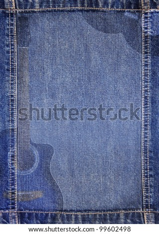 Abstract jeans musical background - stock photo