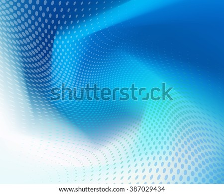 Abstract .jpg dark blue wave with dots background. Plenty of copy space. - stock photo