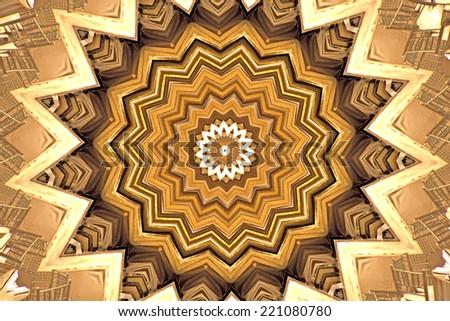 Abstract Kaleidoscope Texture background - stock photo