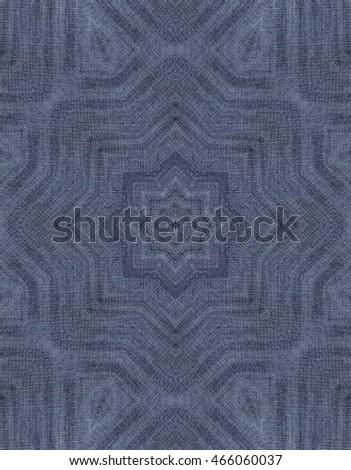 Abstract kaleidoscopic jeans pattern.