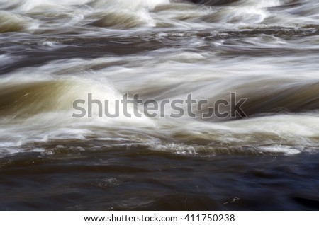 Abstract landscape of the river rapids