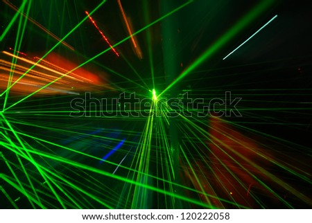 Abstract laser light - stock photo