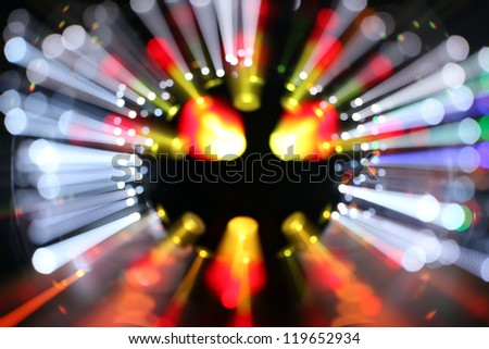 abstract laser party lights - stock photo