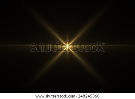 Abstract laser star gold (super high resolution) - stock photo