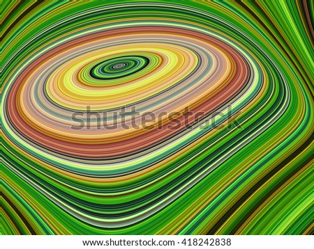 Abstract layer spiral green tone color background - stock photo