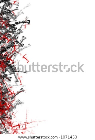 Abstract left side of document. Plenty of room for text or other design - stock photo