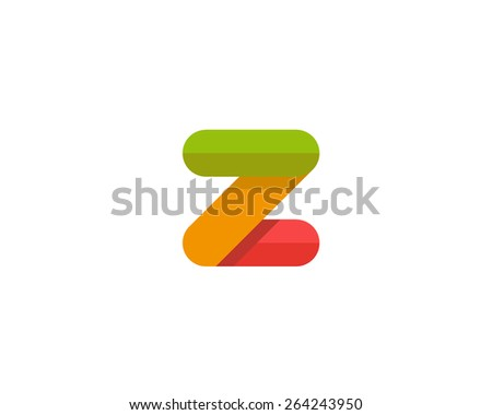 Abstract letter Z logo design template. Colorful creative sign.  - stock photo