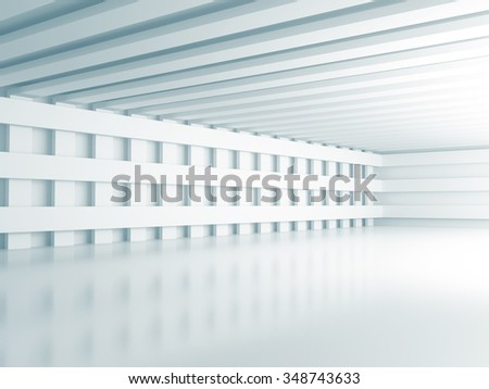 Abstract Light Architecture Wallpaper Background. 3d Render Illustration