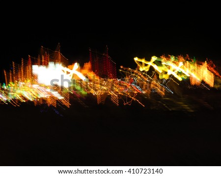 abstract light at night