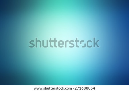 Abstract light blue and green blured background - stock photo