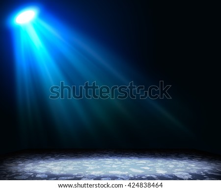 Abstract light blue background with textured floor. Template for design - stock photo