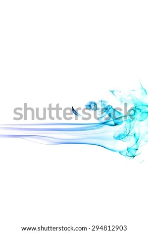 Abstract Light blue smoke on white background, Light blue background,Light blue ink background