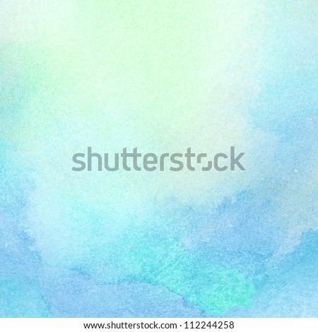Abstract light blue watercolor background - stock photo