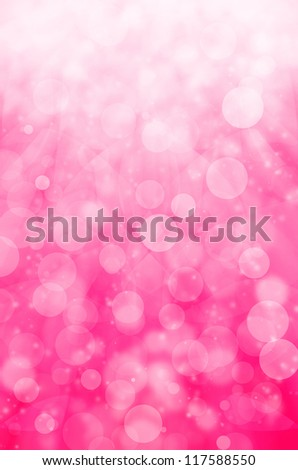 abstract light bokeh on pink background. - stock photo