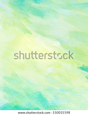 Abstract light color watercolor background - stock photo