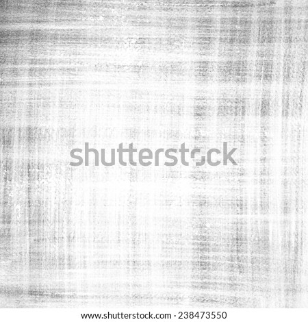 Abstract light grey ink painting on grunge paper texture. Plaid pattern hand painting backdrop. - stock photo