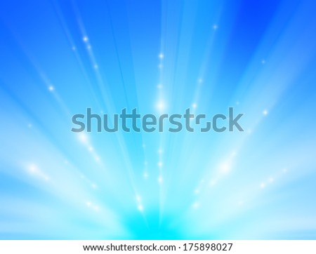 abstract light in blue background.