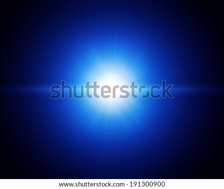 Abstract light on black background - stock photo