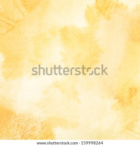 Abstract light orange watercolor background - stock photo