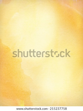 Abstract light orange watercolor background with copy space - stock photo