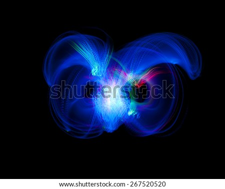 abstract Light Painting, Freezelight effect - stock photo