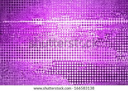 abstract light purple background grid mesh, metallic shine, vintage grunge background texture, center spotlight, grunge metal grill illustration, urban trendy background techno paper  - stock photo