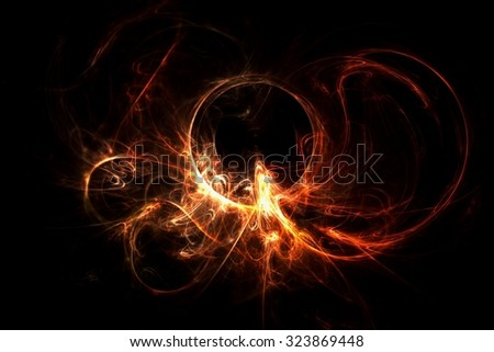 Abstract lighting fractal
