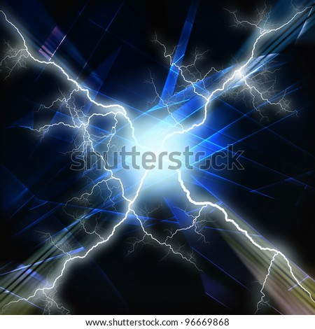 Abstract lighting, futuristic background - stock photo