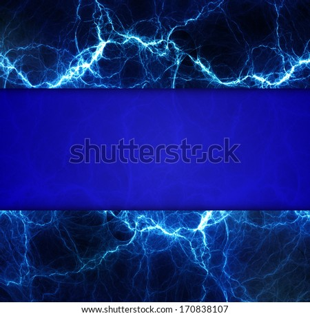 Abstract lightning background with copy space banner