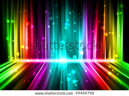 abstract lights Colorful background - stock photo