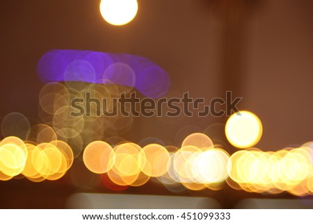 Abstract lights, flash , night city