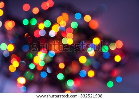 Abstract lights of Christmas decoration garland - stock photo