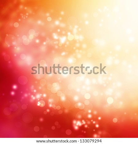 Abstract Lights on Pink and Red Colored Background - stock photo