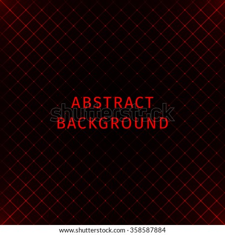 Abstract lights red strips on dark background - stock photo