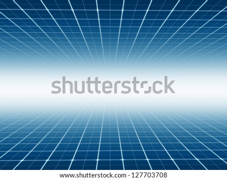 Abstract line  technology background - stock photo