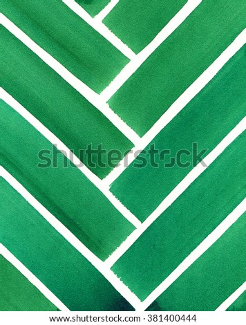 Abstract linear background. Colorful watercolor hand drawn painted on paper texture. - stock photo