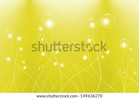 abstract lines and glowing on yellow background