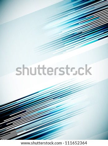 Abstract lines background with copy space. Raster version of my vector illustration - stock photo