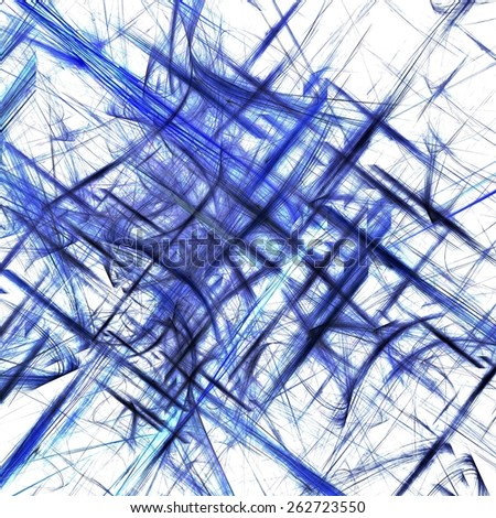 Abstract lines cool blue mosaic artwork background - stock photo