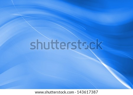 abstract lines with wavy blue background